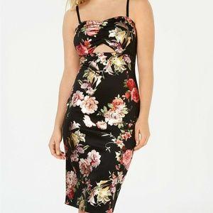 Material Girl Juniors' Floral-Print Bodycon Dress
